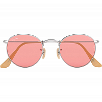 Ray Ban ROUND METAL SILVER/PINK