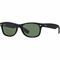 Ray Ban NEW WAYFARER BLACK RUBBER/CRYSTAL GREEN