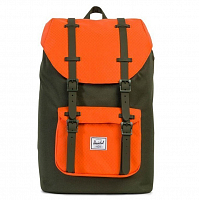 Herschel Little America Mid-Volume Forest Night/Vermillion Orange/Forest Night Rubber