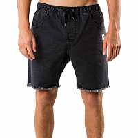 Rusty BALLER DENIM ELASTIC SHORT Vintage Black