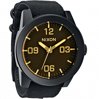 Nixon Corporal MATTE BLACK/ORANGE TINT