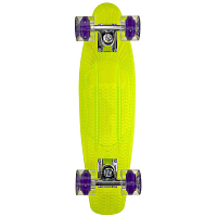 SUNSET SKATEBOARDS ALIEN COMPLETE 22 GREEN DECK- BLACKLGHT WHEELS