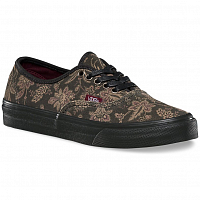 Vans AUTHENTIC SLIM (Suede Floral) black/blanc de blanc