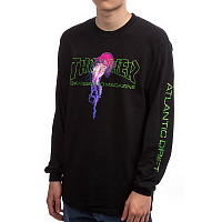 THRASHER ATLANTIC DRIFT LONG SLEEVE BLACK
