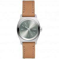 Nixon SMALL TIME TELLER LEATHER SADDLE/SAGE