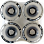 Bustin Five-O Wheels White Print - Stone Ground Contact Patch - Black C