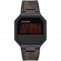 Nixon RE-RUN LEATHER All Black/Camo