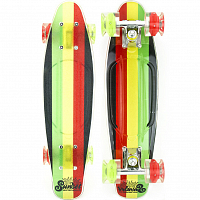 SUNSET SKATEBOARDS RASTA GRIP COMPLETE 27 SS15 RASTA STRIPE DECK R/Y/G- RED/GREEN WHEELS