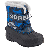 SOREL CHILDRENS SNOW COMMANDER PRINT Abyss, Super Blue