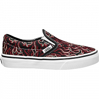 Vans Classic Slip-On (Flames) black/true white