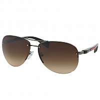 Prada Linea Rossa PS56MS GUNMETAL/BROWN GRADIENT