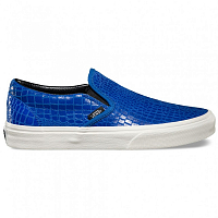 Vans Classic Slip-On (Snake Leather) blue