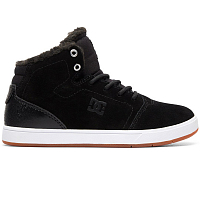 DC CRISIS HIGH WNT B SHOE BLACK/WHITE/GUM