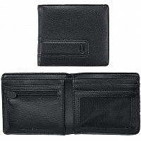 Nixon Showdown Bi-Fold Zip Wallet ALL BLACK