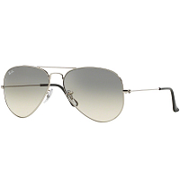 Ray Ban AVIATOR LARGE METAL SILVER/CRYSTAL BROWN GRADIENT