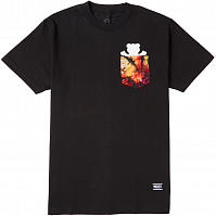 Grizzly TIE DYE POCKET S/S TEE BLACK