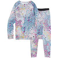 Burton YOUTH 1ST LAYER SET STOUT WHITE DOTS