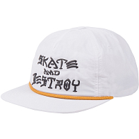 THRASHER SNAPBACK - S&D PUFF INK WHITE