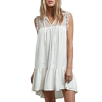Volcom SEA Y'AROUND DRESS STAR WHITE