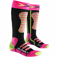 X-Socks XS SKI JUNIOR Fuchsia/Yellow