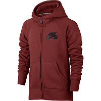 Nike B NK HOODIE FZ ICON DARK CAYENNE/ANTHRACITE/BLACK