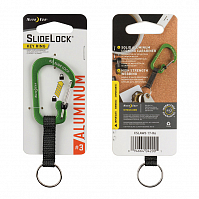 Nite Ize SLIDELOCK KEY RING ALUMINUM 3 LIME
