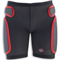 UFO SOFT PADDED SHORTS BLACK/RED