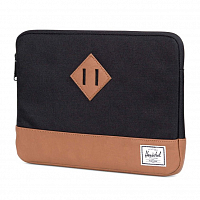 Herschel HERITAGE SLEEVE FOR IPAD AIR Black/Tan Synthetic Leather