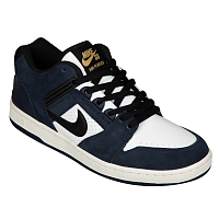 Nike SB AIR FORCE II LOW OBSIDIAN/BLACK-WHITE-CELESTIAL GOLD