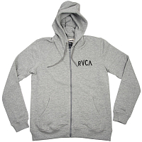 RVCA M.O.R ZIP HOODY ATHLETIC HEATHE