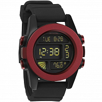 Nixon Unit DARK RED/BLACK ANO