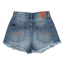 Rusty YESTERDAYS HIGH DENIM SHORT ACES BLACK