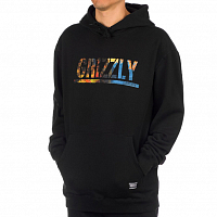 Grizzly STAMPED SCENIC HOODIE BLACK