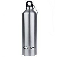FOLLOW S.P.R WATER BOTTLE SILVER