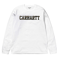 CARHARTT L/S COLLEGE T-SHIRT WHITE / CAMO TIGER, LAUREL