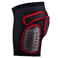 UFO PADDED PLASTIC SHORTS BLACK/RED