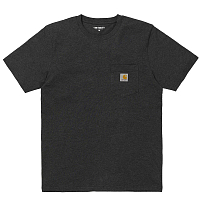 Carhartt WIP S/S POCKET T-SHIRT BLACK HEATHER