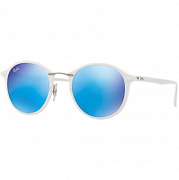 RAY BAN 0RB4242 SHINY WHITE/GREEN MIRROR BLUE