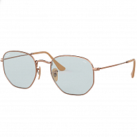 RAY BAN HEXAGONAL COPPER/EVOLVE LIGHT BLUE
