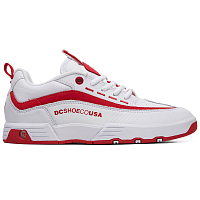 DC LEGACY 98 SLIM J SHOE WHITE/WHITE/TRUE RED