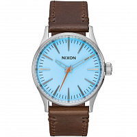 Nixon SENTRY 38 LEATHER Sky Blue/Taupe