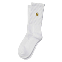 Carhartt CHASE SOCKS WHITE / GOLD