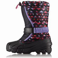 SOREL CHILDRENS FLURRY PRINT Black, Pink Ice