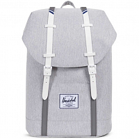 Herschel RETREAT LIGHT GREY CROSSHATCH/WHITE RUBBER/BLUEPRINT STRIP