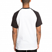 DC STAR SS RAGLAN M TEES BLACK/ SNOW WHITE