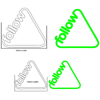 FOLLOW TRIANGLE CORP DECAL PACK ASSORTED