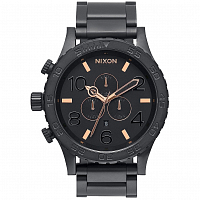 Nixon 51-30 Chrono ALL BLACK/ROSE GOLD
