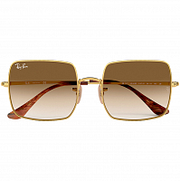 Ray Ban SQUARE GOLD/CLEAR GRADIENT BROWN