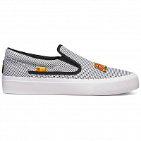 DC TRASE SLIP-ON X J SHOE BLACK/WHITE