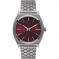 Nixon Time Teller GUNMETAL/DEEP BURGUNDY